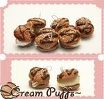 Cream puff Charms