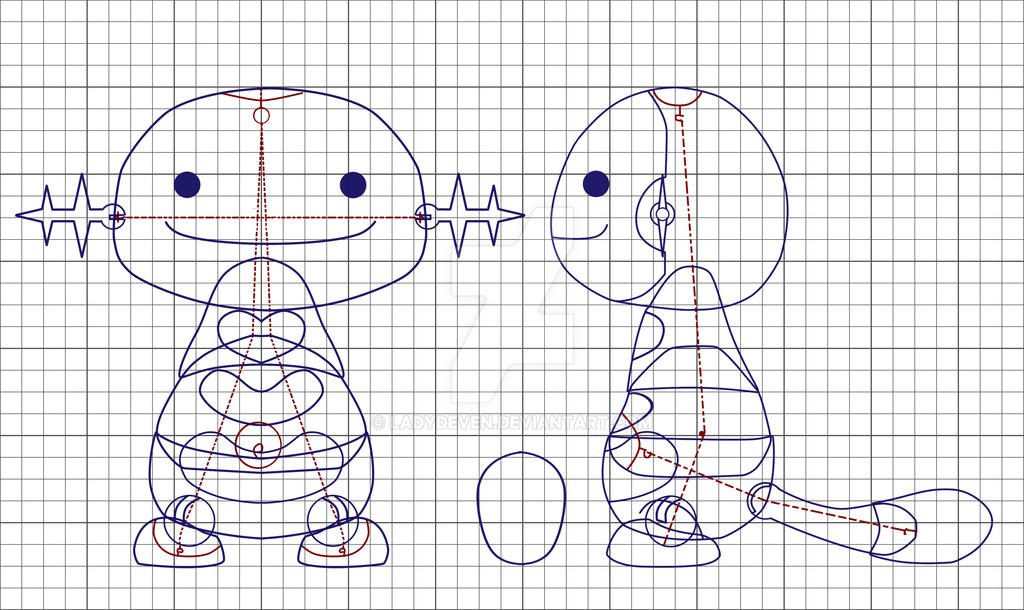 Wooper Ball Joint Doll Plans by LadyDeven
