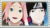 Naruto: Sai x Sakura by Vulpixi-Stamps