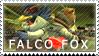 Star Fox: Falco x Fox by Vulpixi-Stamps