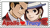 Ace Attorney: Apollo x Trucy by Vulpixi-Stamps