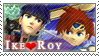 SSB: Ike x Roy by Vulpixi-Stamps