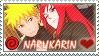 Naruto: NaruKarin by Vulpixi-Stamps