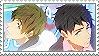 Free: Sousuke x Makoto by Vulpixi-Stamps