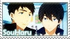 Free: Sousuke x Haruka by Vulpixi-Stamps