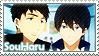 Free: Sousuke x Haruka by Vulpixi-Stamps