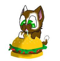 Burger Kitty by Selcouth-Kiara