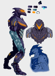 Chozo character reference 2 by Noctis-quarzt