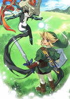 Link, Navi, and Midona by dongurikyouko