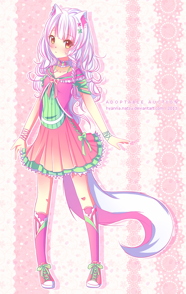[Closed] Cotton Neko Adopt Auction by Hyanna-Natsu