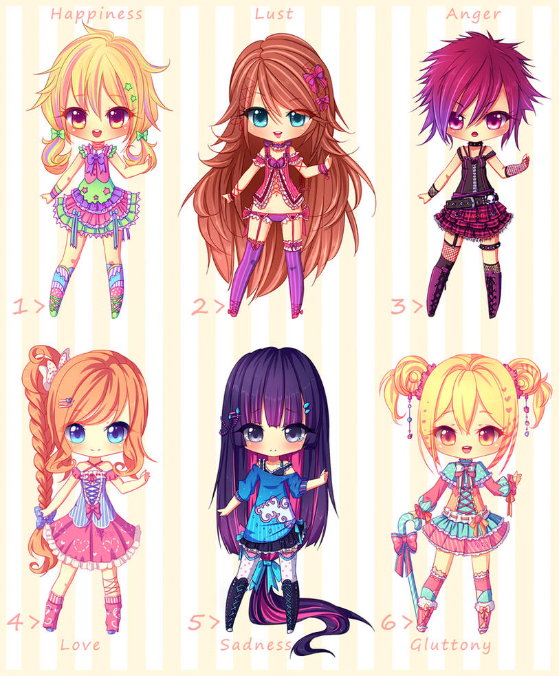 [AUCTION CLOSED] Mood Adopts by Hyanna-Natsu