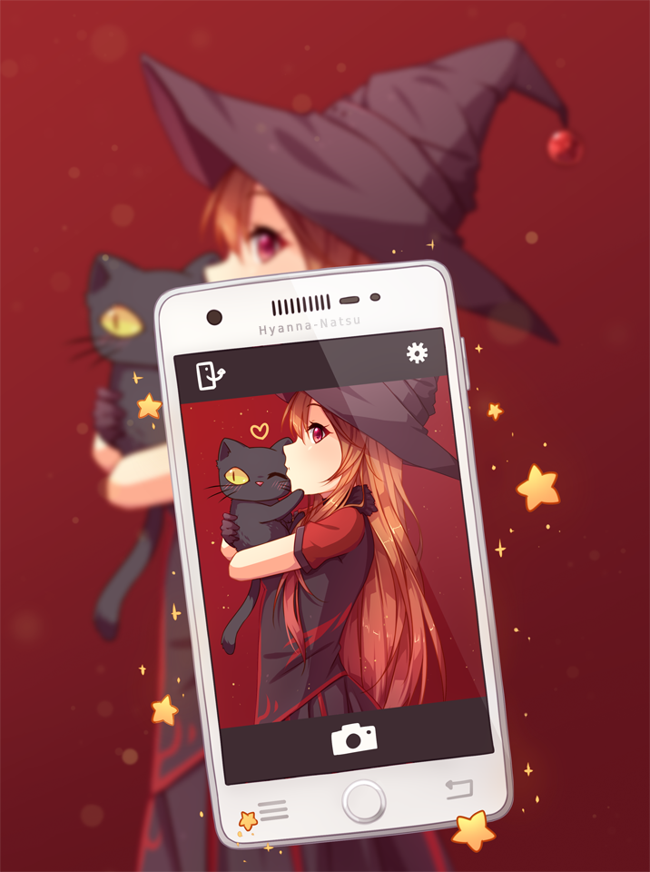 Commission - Magic Selfie by Hyanna-Natsu