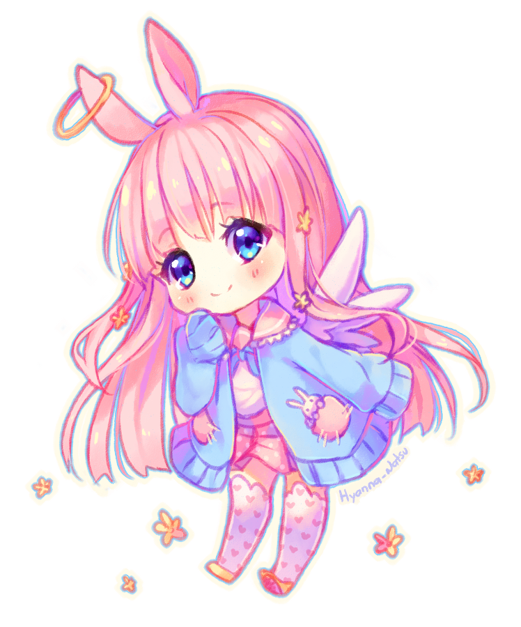 [+Video] Commission - Angel bunny by Hyanna-Natsu