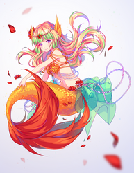 [+Video] Commission - Underwater petals by Hyanna-Natsu
