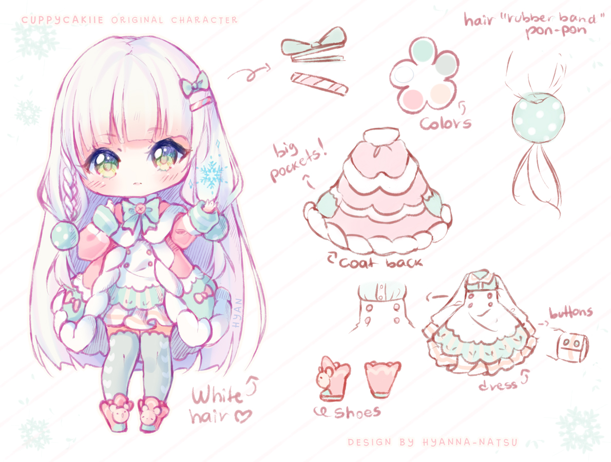 Character Design Kawaii : Video commission cuppycakiie by hyanna natsu on
