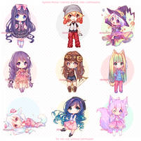 [+Video] Commission - Sketch Chibis! by Hyanna-Natsu