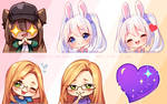 [+Video] Commission - Twitch Emotes by Hyanna-Natsu