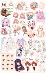 Sketch Dump 6 by Hyanna-Natsu