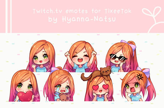 [+Video] Commission - TixeeTok Emotes