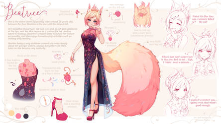 [+Video] Commission - Beatrice Reference Sheet