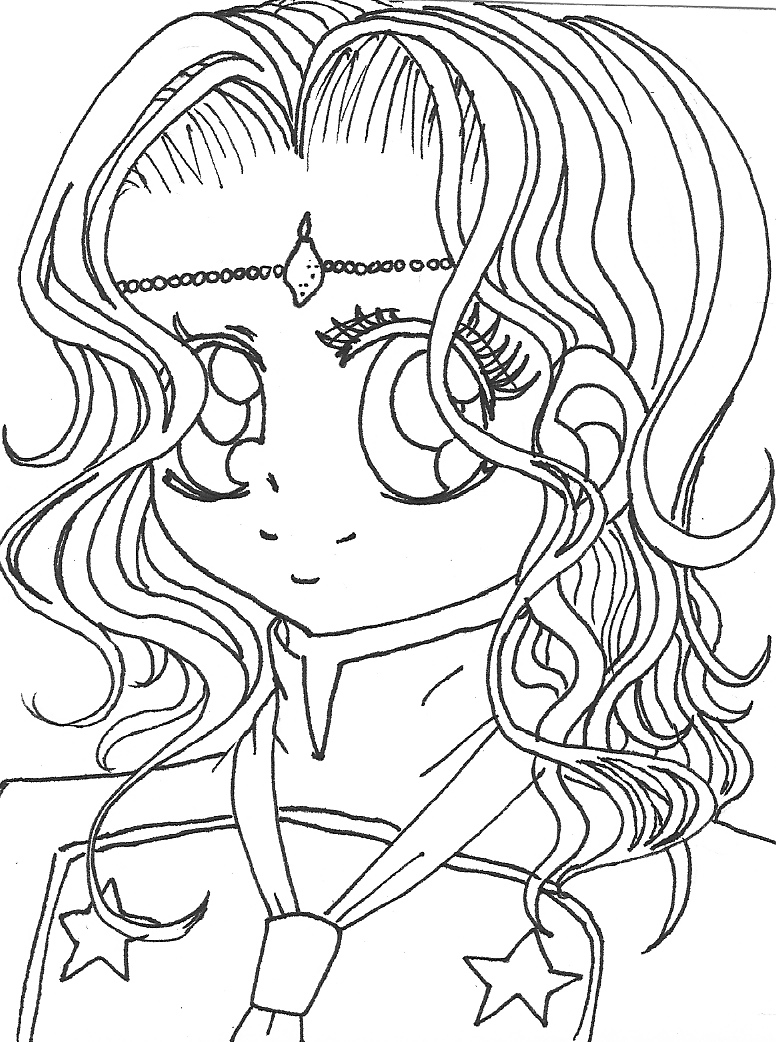 manga coloring pages - Manga Coloring Pages