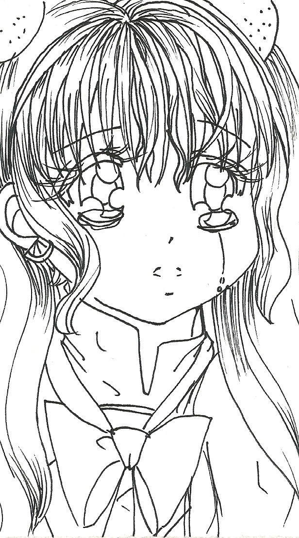 Free Shojo Anime Coloring Page By Clowcard27 On Deviantart Anime Coloring Pages Free