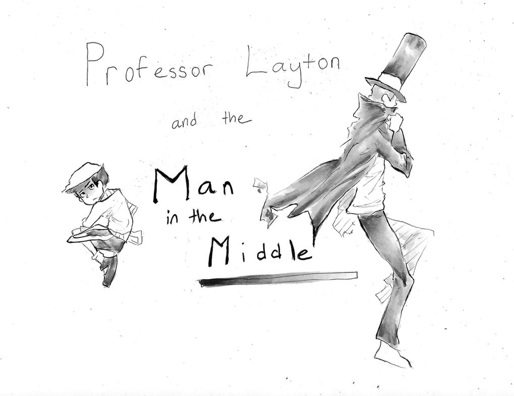 [Professor Layton] - Man in the Middle (cover) by superpiejr