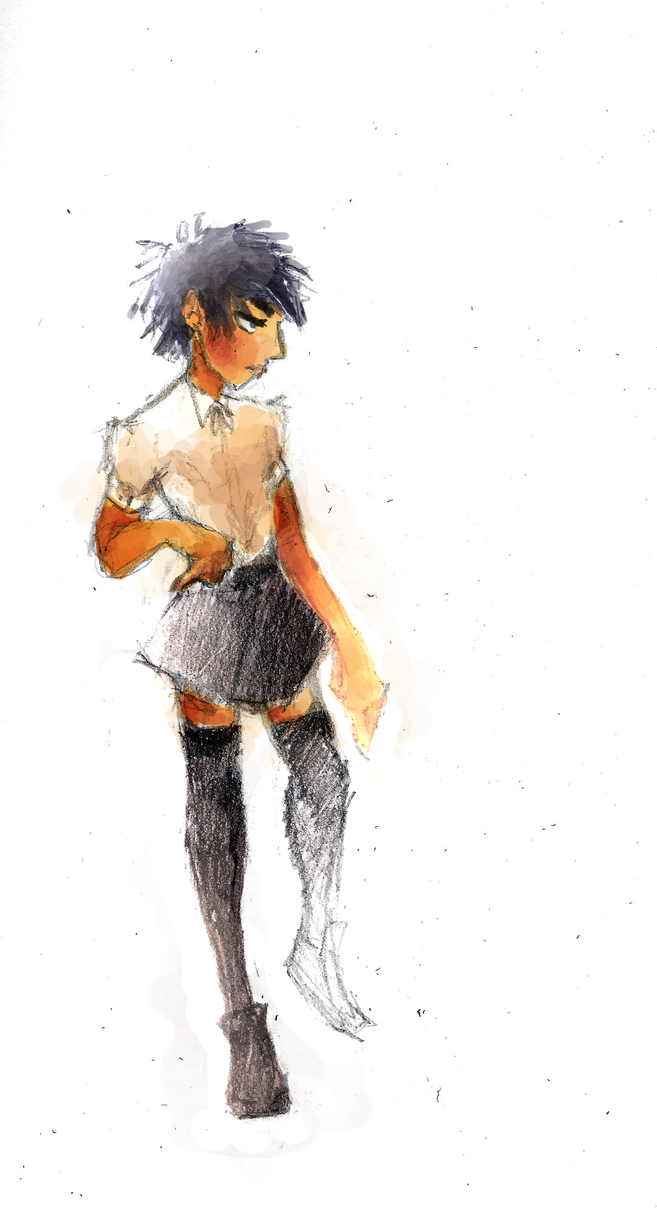 [Big Hero 6] Hiro in a skirt? by superpiejr