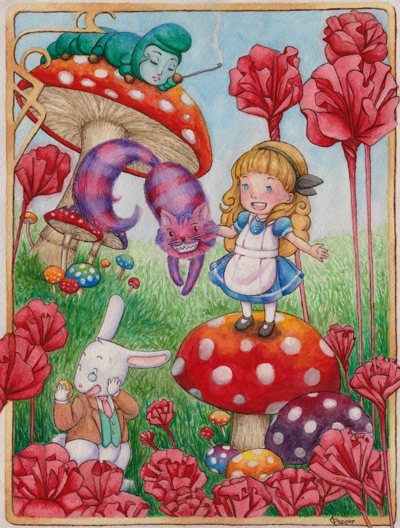 Alice in Wonderland Watercolor by SugarPepper