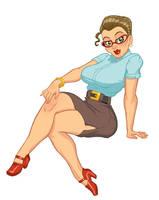 Secretary Pin Up by brandondayton