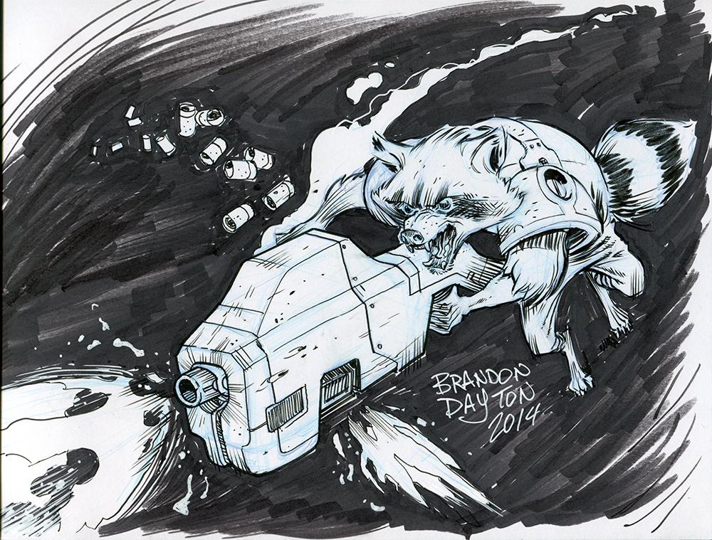 Rocket Racoon by brandondayton