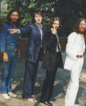 Waiting to cross Abbey Road, 1969