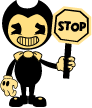 Bendy Stop Sign (Stamp) by Rui0730