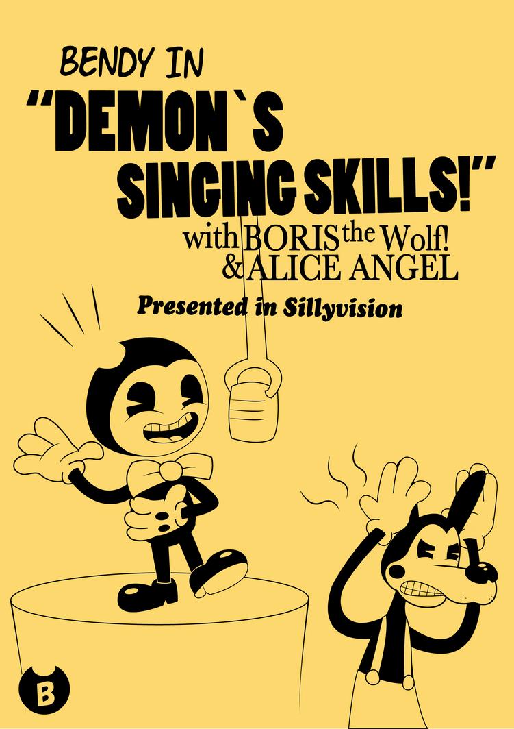 Bendy in Demon's Singing skills (contest entry) by Rui0730