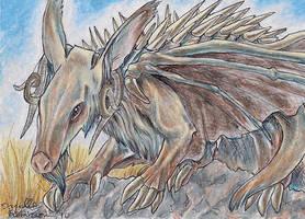 ACEO - Aardvark Dragon