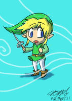 Wind Waker Link, Done in Crayon by AniMerrill