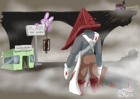 Unemployed Pyramid Head by AniMerrill