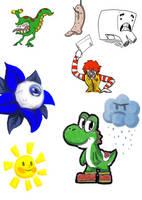 Random Doodle Dump 2 by AniMerrill