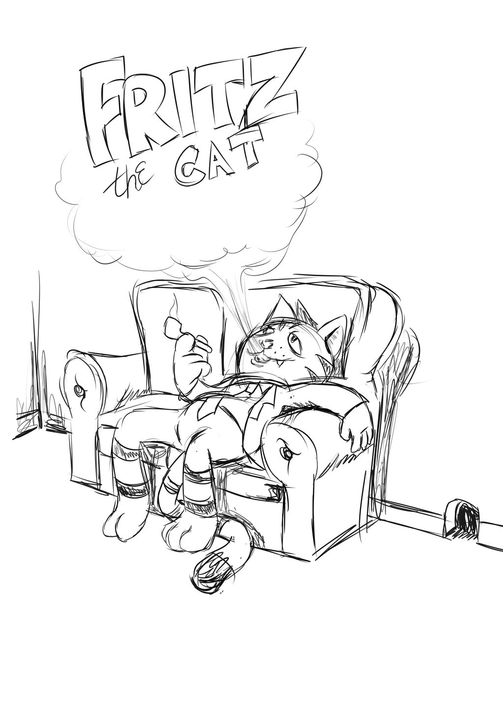 Fritz the Cat (Sketch Sample) by AniMerrill