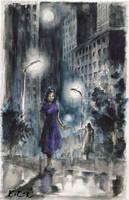 in the rain by dante-mk