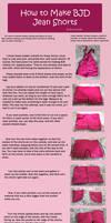 How to Make BJD Jean Shorts