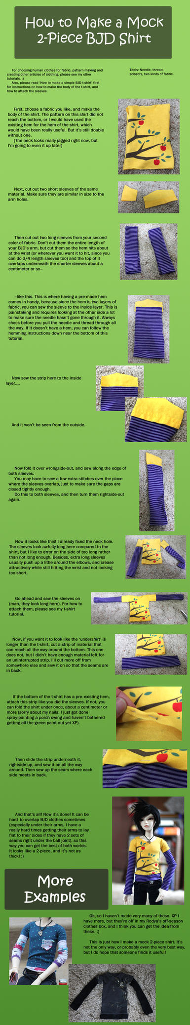 Mock 2-Piece BJD Shirt Tutorial by RodianAngel