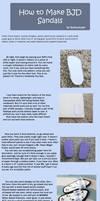 How to Make BJD Sandals