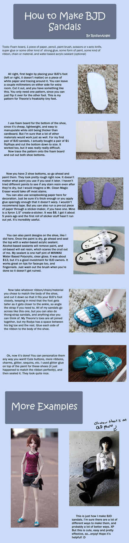 How to Make BJD Sandals by RodianAngel
