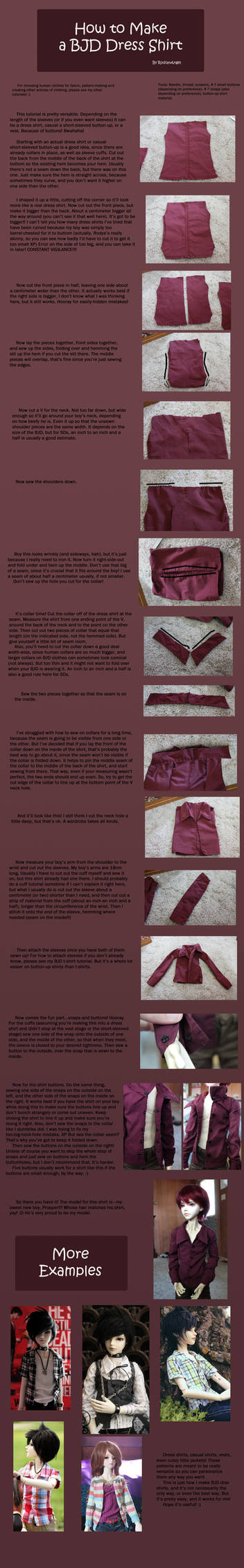 How to Make BJD Dress Shirts