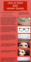 How to Make BJD Hipster Glasses