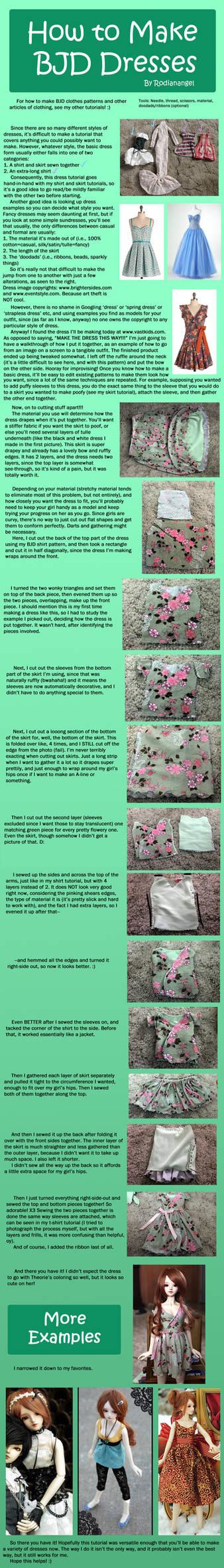 How to Make BJD Dresses