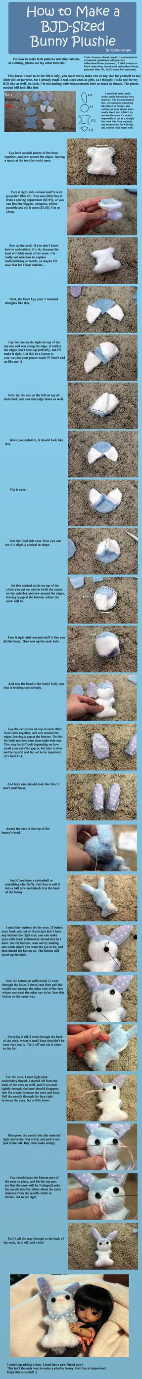 How to Make a BJD-Sized Bunny Plushie by RodianAngel