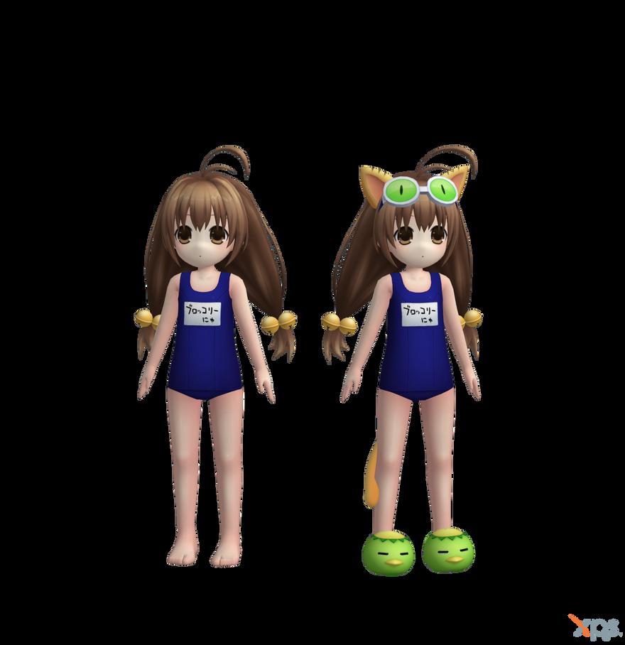 Hyperdimension Neptunia - Broccoli (Swimwear) by Bringess