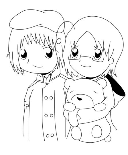 Sketch - Yurianya by headbutt-of-love